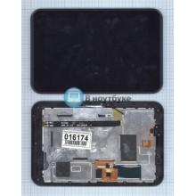 Модуль (матрица + тачскрин) Oysters T37 черный с синей рамкой