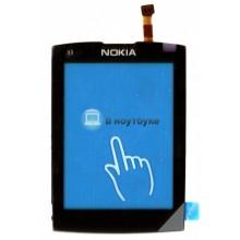 Сенсорное стекло (тачскрин) Nokia X3-02 черное