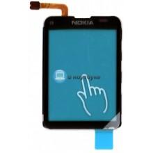 Сенсорное стекло (тачскрин) Nokia С3 черное