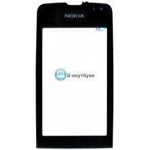 Сенсорное стекло (тачскрин) Nokia Asha 311 черное