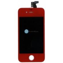 Модуль (матрица + тачскрин) Apple iPhone 4g красный без крепежа