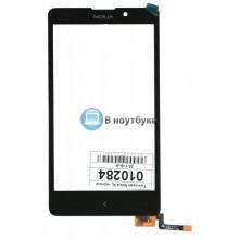 Сенсорное стекло (тачскрин) Nokia XL Dual sim черный