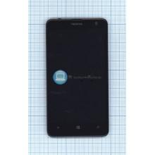 Модуль (матрица+тачскрин) Nokia Lumia 625 (с рамкой) черный