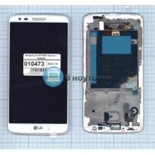 Модуль (матрица + тачскрин) LG G2 D801 белый с рамкой