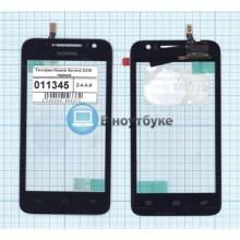 Сенсорное стекло (тачскрин) Huawei Ascend G330 черный
