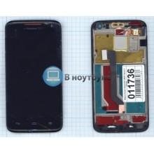 Модуль (матрица+тачскрин) Huawei Ascend D1 U9500 черный с рамкой