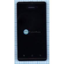 Модуль (матрица + тачскрин) Huawei Ascend P1 U9200 черный с рамкой