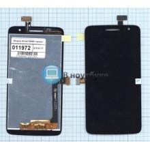 Модуль (матрица + тачскрин) Alcatel One Touch SCRIBE HD D 8008D черный