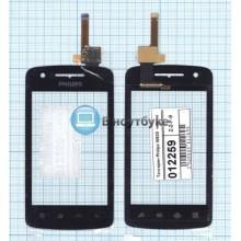 Сенсорное стекло (тачскрин) Philips W820 черное
