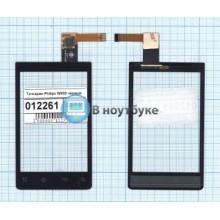 Сенсорное стекло (тачскрин) Philips W930 черное