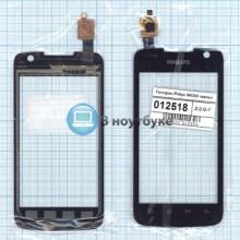 Сенсорное стекло (тачскрин) Philips Xenium W6350 черное
