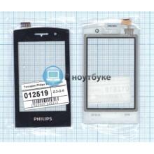 Сенсорное стекло (тачскрин) Philips Xenium W727 черное