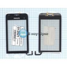 Сенсорное стекло (тачскрин) Philips Xenium V816 черное