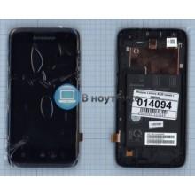Модуль (матрица + тачскрин) Lenovo A526 синий с рамкой