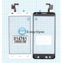 Сенсорное стекло (тачскрин) Alcatel One Touch Idol 2 mini S 6036 белый