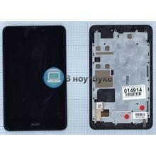 Модуль (матрица + тачскрин) Acer Iconia Tab A1-713HD черный с рамкой