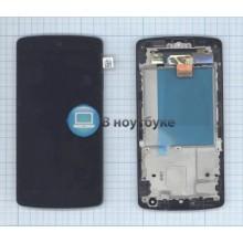 Модуль (матрица + тачскрин) LG Google Nexus 5 D820 с рамкой черный