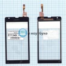 Сенсорное стекло (тачскрин) Sony Xperia SP (C5303) черный