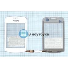Сенсорное стекло (тачскрин) Philips Xenium X518 белое