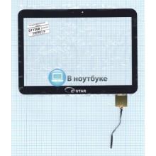 Сенсорное стекло (тачскрин) F-WGJ10154-J-V1 черный