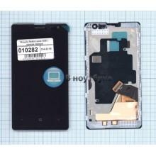 Модуль (матрица + тачскрин) Nokia Lumia 1020 с рамкой черный