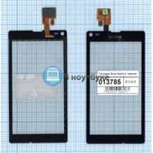 Сенсорное стекло (тачскрин) Sony Xperia L черный