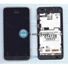 Модуль (матрица + тачскрин) ASUS Zenfone 4 (A450CG) черный с рамкой