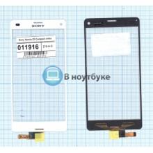 Сенсорное стекло (тачскрин) Sony Xperia Z3 Compact белый