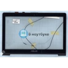 Сенсорное стекло (тачскрин) Asus S550CB 5345S FPC-1 черный с рамкой
