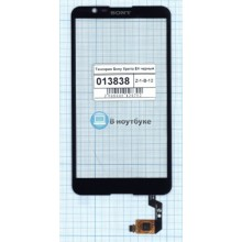 Сенсорное стекло (тачскрин) Sony Xperia E4 черный