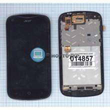 Модуль (матрица+тачскрин) Acer Liquid E2 черный с рамкой