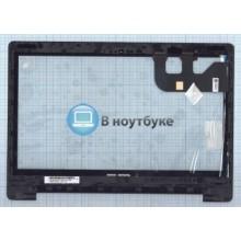 Сенсорное стекло (тачскрин) Asus Transformer Book Flip TP300 черное с рамкой
