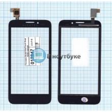 Сенсорное стекло (тачскрин) Alcatel OneTouch Snap 7025D черное