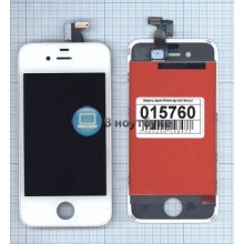 Модуль (матрица + тачскрин) Apple iPhone 4 AAA белый