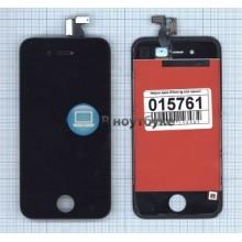 Модуль (матрица + тачскрин) Apple iPhone 4 AAA черный