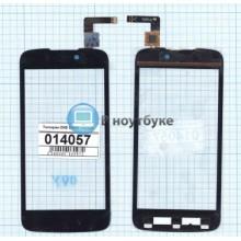 Сенсорное стекло (тачскрин) DNS S4508 черный