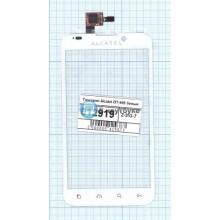Сенсорное стекло (тачскрин) Alcatel OT-995 белый