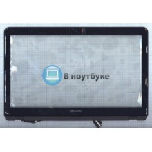 Сенсорное стекло (тачскрин) Sony Vaio SVF15A черный c рамкой