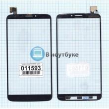 Сенсорное стекло (тачскрин) Alcatel One Touch HERO 8020D черное