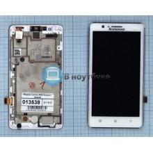Модуль (матрица + тачскрин) Lenovo A536 белый с рамкой