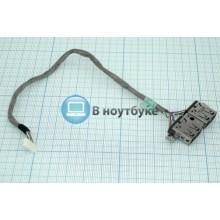 Разъем USB для ноутбука HP ProBook 4720s двойной с кабелем