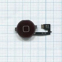 Кнопка HOME в сборе с механизмом и шлейфом для Apple iPhone 4 черная